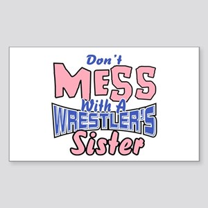 Wrestler's Sister Sticker (Rectangle)